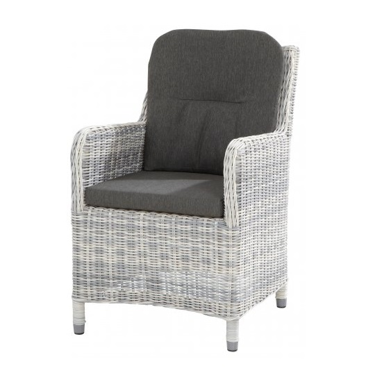 4 Seasons Indigo Chair w/cushions - Ice