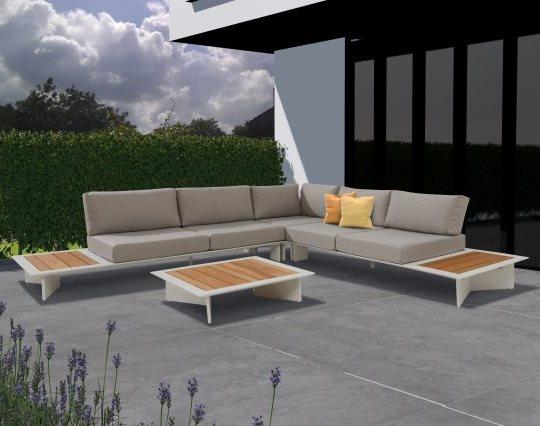 Taste Lovina Platform Sofa Set - White