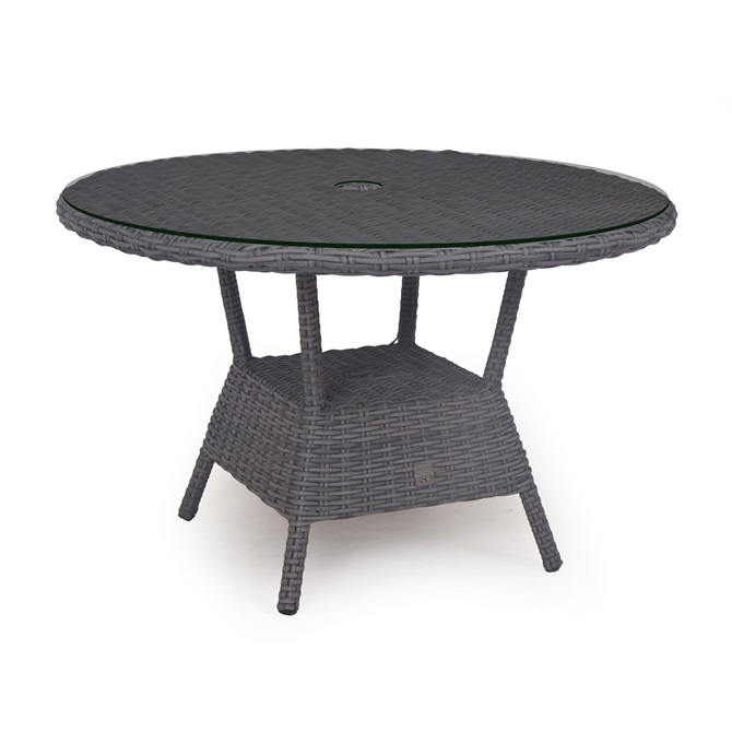 Taste Kaylee Table Ø120  W/Glass and Hole- Nero