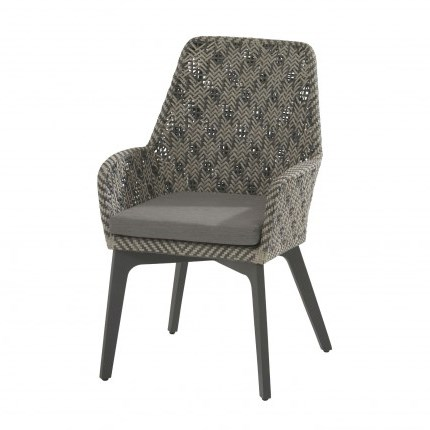4 Seasons Savoy dining chair Alu legs w/ cushion - Batic