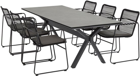 Taste Vesper Table 220x95 w/Spraystone - Matt Carbon