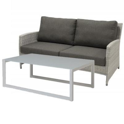 4 Seasons Castillo Sofa + Shape coffe table - Polyloom Ice