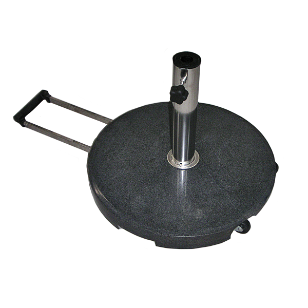 Jofix  ø40Kg Base w/ handle & weels -  Black Granite