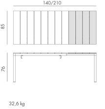 Jofix Rio Mesa Extensível 140 a 210x80 - Tortora