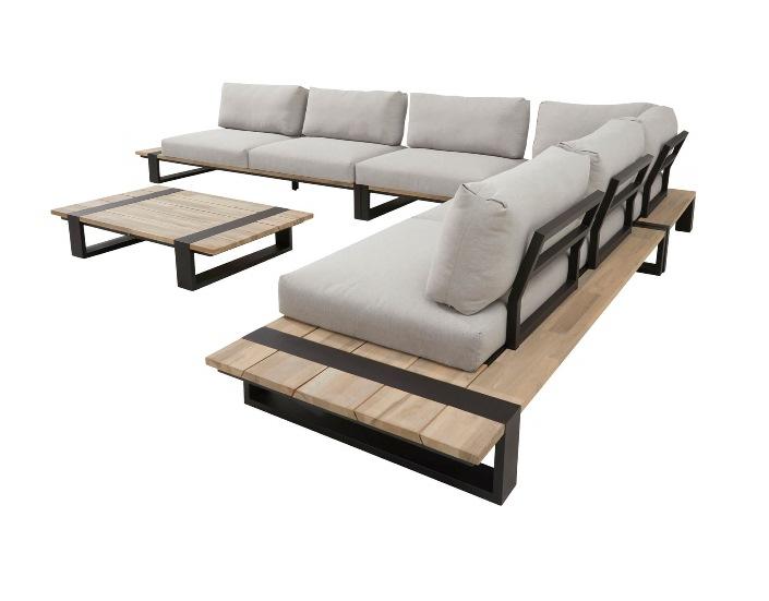4 Seasons Duke Coffee Table 120x85 - Alum./Teak