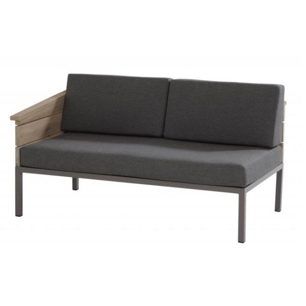 4 Seasons Cava Mod. 2 Seaters Right C/4 Pillows - Alum./Teak