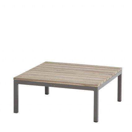 4 Seasons Cava Coffee Table 78x78 - Alum./Teak