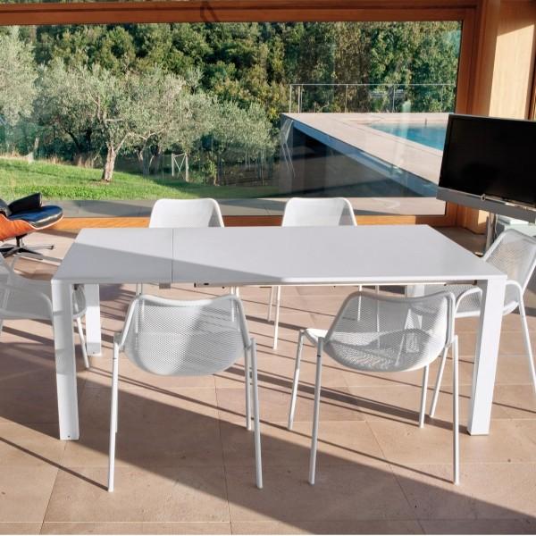 Emu Round Ext. Table 160+50+50 - White