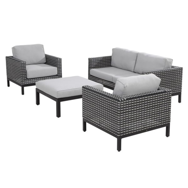 4 Seasons Dias Sofa Set - Black Pepper