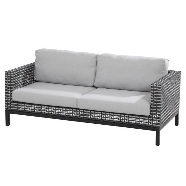 4 Seasons Dias Sofa Set - Black Pepper