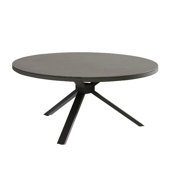 Taste Granada Table Ø160cm w/Spraystone - Matt Carbon