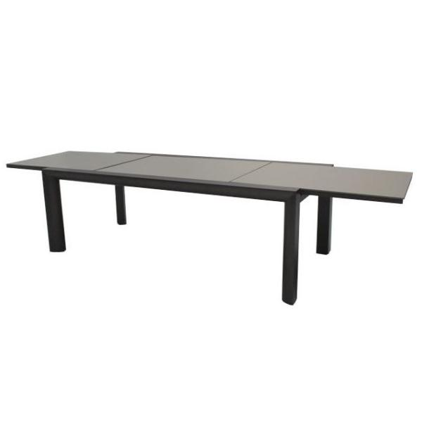 Taste Premier Table 220-340x106 Slate Grey - Lt. Grey Glass