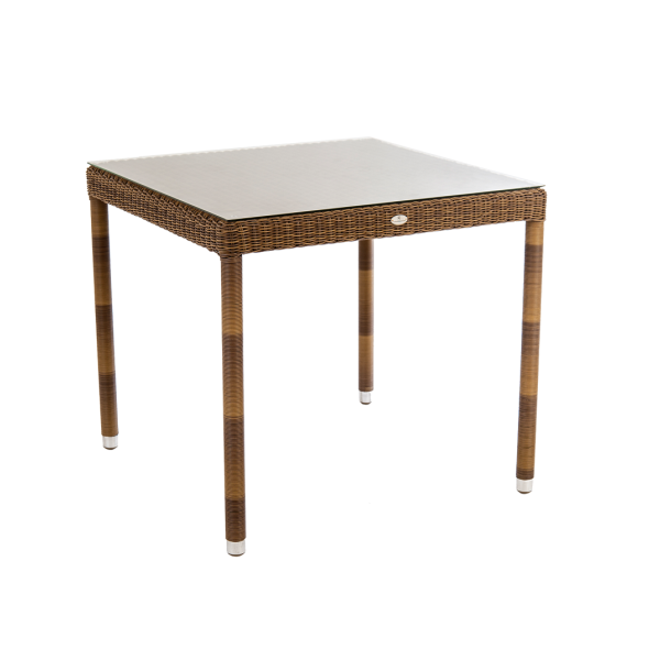 AL.Rose San Marino Table 80x80 w/Glass