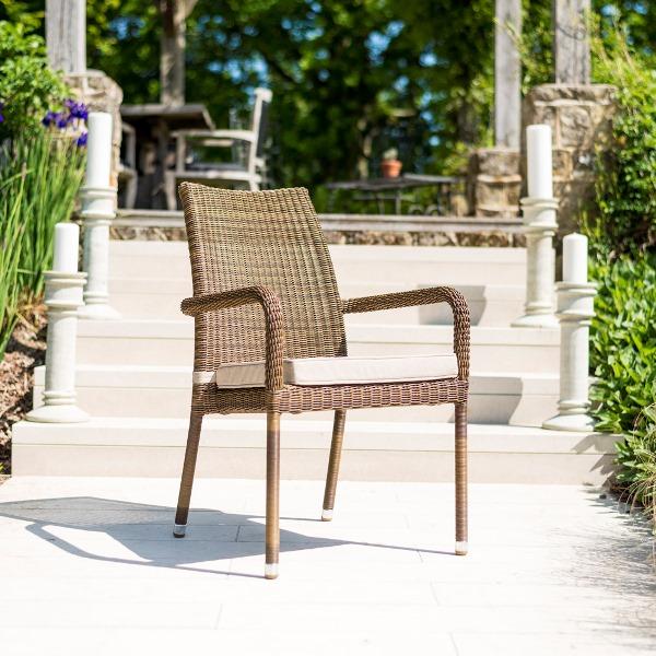 AL.Rose San Marino Cadeira C/ Braços Emplh. S/Alm.