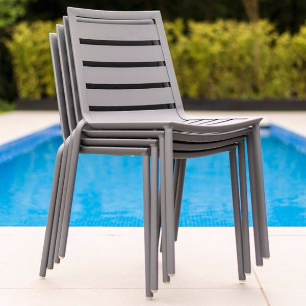 AL.Rose Fresco Stacking Chair - Flint