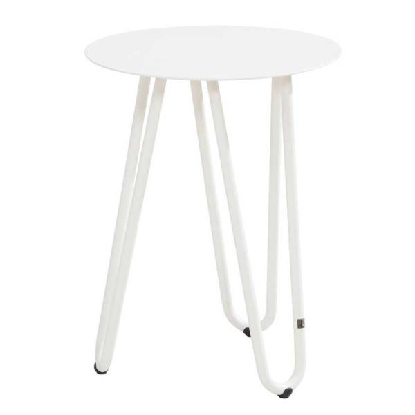 4 Seasons Cool Side Table W/Handle 42Ø x 40H - White