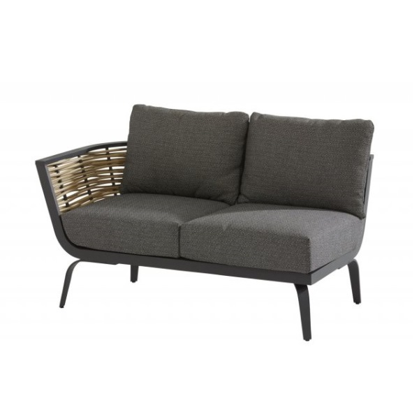 4 Seasons Antibes Sofa 2 Lg. Br. Dtº. C/Alm.-Antracite/Nat.