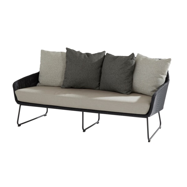 4 Seasons Avila Sofa 2,5 seaters - Polyloom Antracite