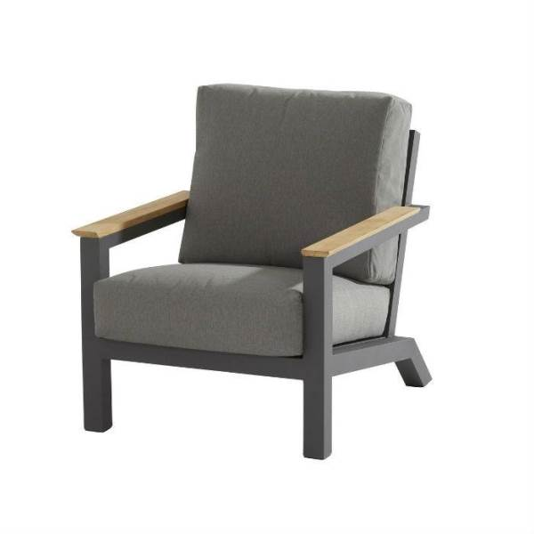 4 Seasons Capitol Linving Chair with Cushion - Anthracite