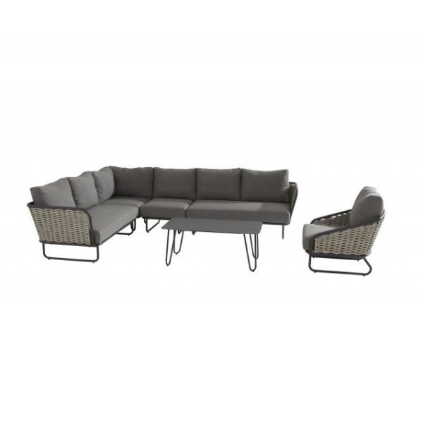 Taste Bo Modular Sofa 2seaters Right Arm - Banana/Grey