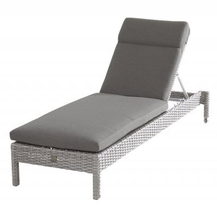 Taste Rialto Sunbed w/Cushion - Frost/Grey