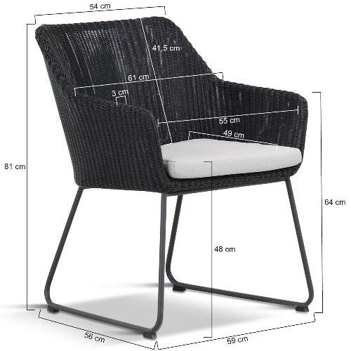 4 Seasons Avila Chair - Polyloom Antracite