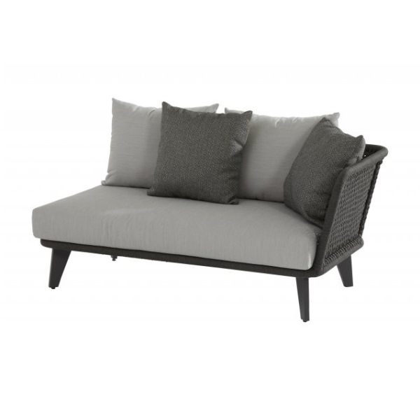 4 Seasons Belize Mod. 2 seater Left Arm w/Cushions - Rope