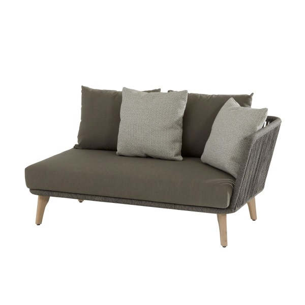 4 Seasons Santander Mod. 2 seater Left Arm w/Cushions - Rope