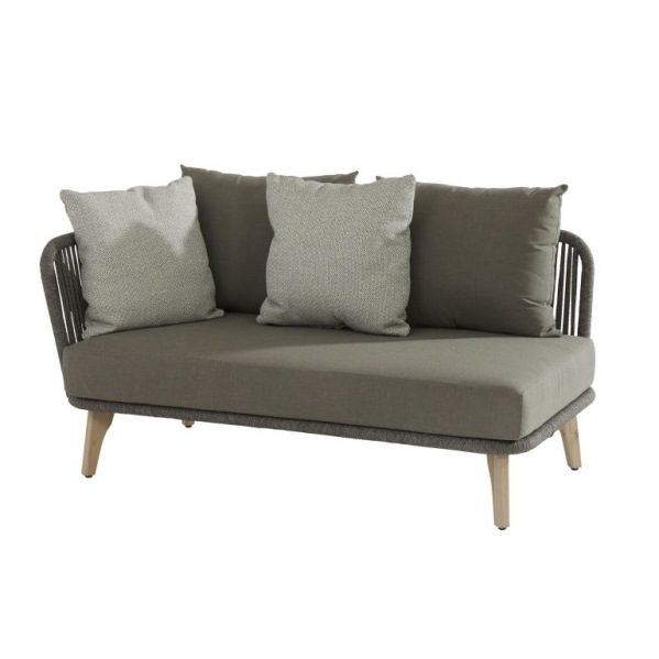 4 Seasons Santander Mod. 2 seater Right Arm w/Cushions -Rope