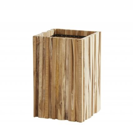 4 Seasons Miguel Square Planter Medium - Teak