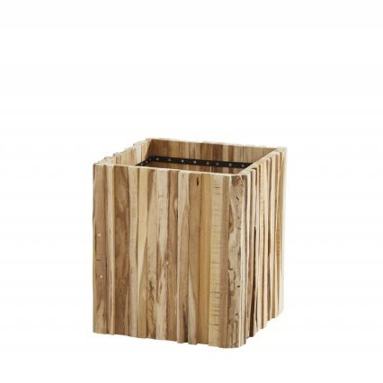 4 Seasons Miguel Square Planter Small - Teak