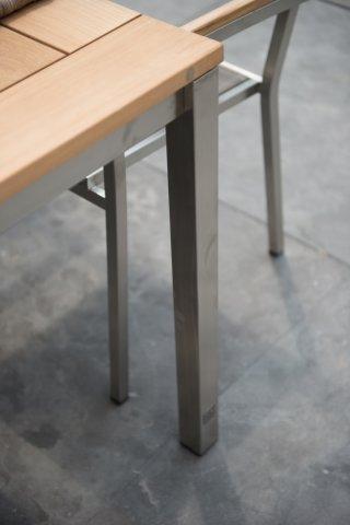 4 Seasons Rivoli Slimtop Table 170x95 - Teak / Inox