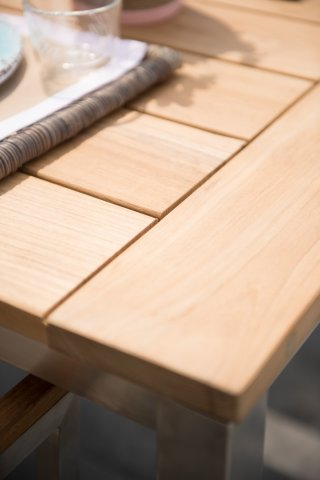 4 Seasons Rivoli Slimtop Table 220x95 - Teak / Inox