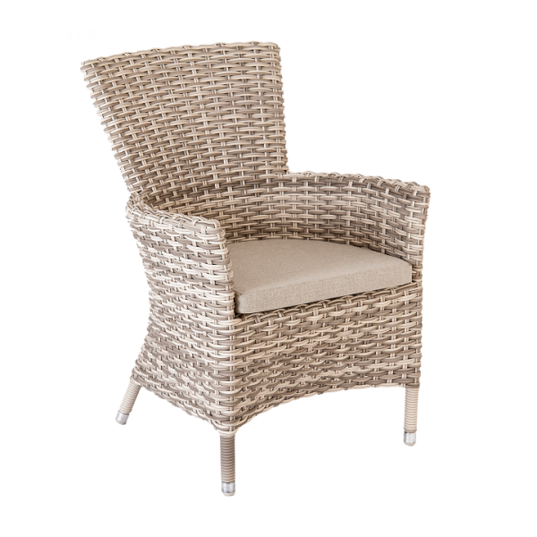 AL.Rose kool Table 150x90 + 4x Stacking Chairs - Pearl