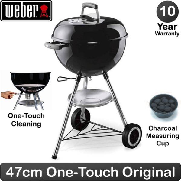 Weber BBQ Carvão Original Kettle E-4710 - Preto