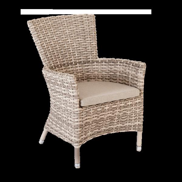 AL.Rose kool Table 180x100cm + 6x High Back Chairs - Pearl