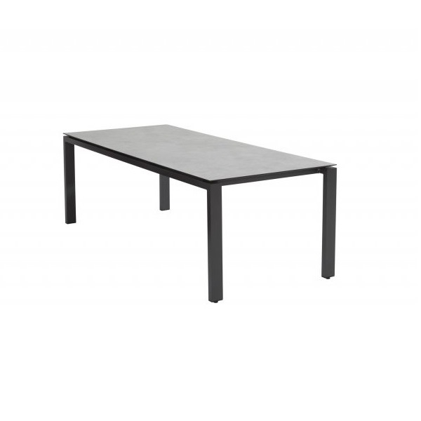4 Seasons Goa Table 220x95 HPL Top - Light Grey / Antracite