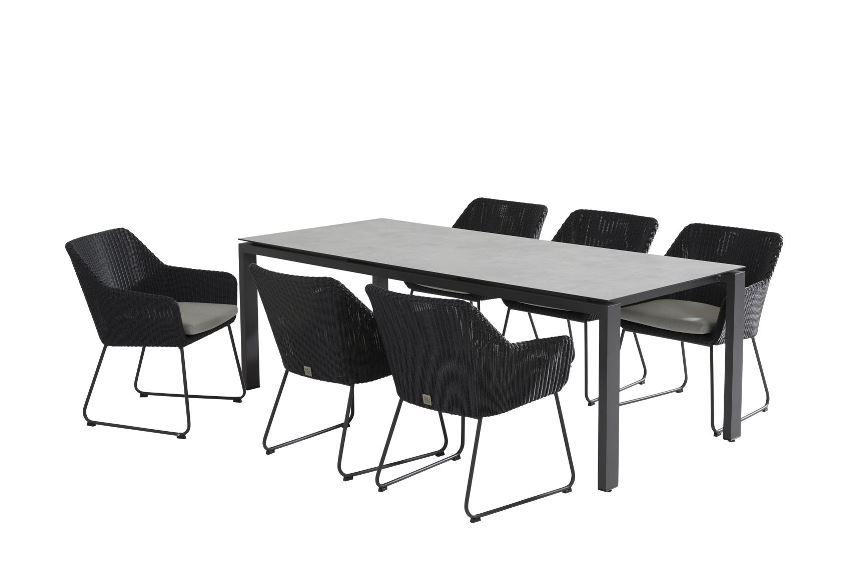 4 Seasons Goa Table 220x95 HPL Top - Light Grey / Antracite