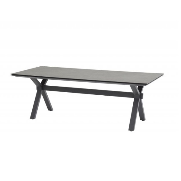 4 Seasons Goa Conrad Table HPL 220x95 - Dark Grey /Antracite