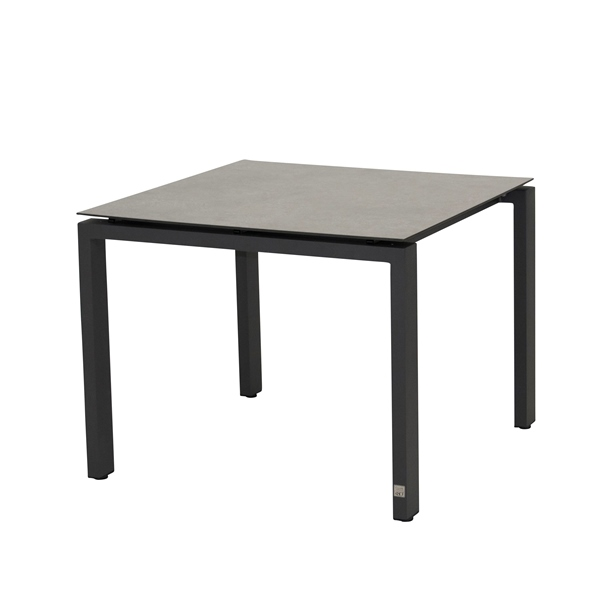 4 Seasons Goa Table HPL Top 95x95 - Light Grey / Antracite