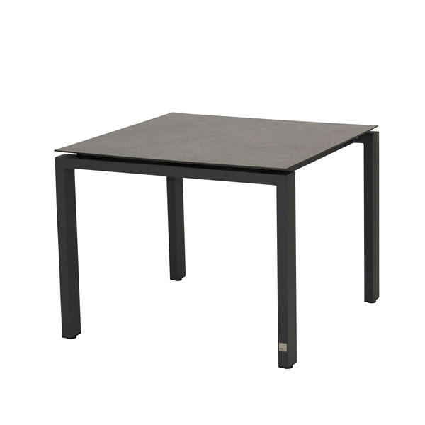 4 Seasons Goa Table HPL Top 95x95 - Dark Grey / Antracite