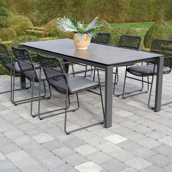 4 Seasons Goa Table 160x95 HPL Top - Light Grey / Antracite