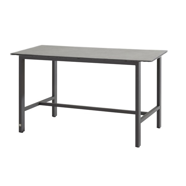 4 Seasons Goa Bar Table HPL Top 160x95 - Lt Grey /Antracite