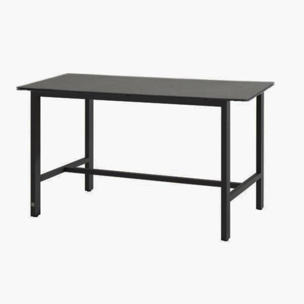 4 Seasons Goa Bar Table HPL Top 160x95 - Dark Grey/Antracite
