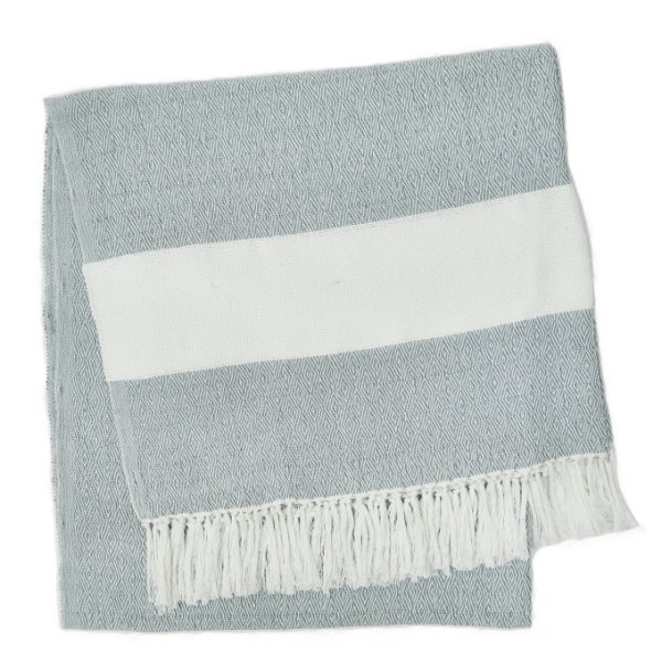 Weaver Green Manta Dove Grey Hammam Throw