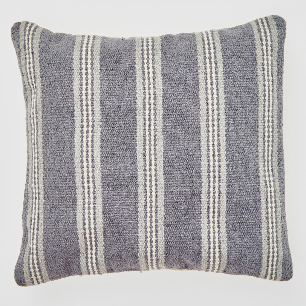 Weaver Green Henley Striped Clay Cushion 45x45