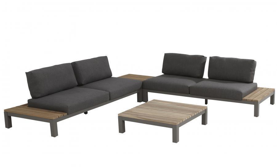 4 Seasons Fidji Modular Corner/Coffee Table - Aluminium/Teak