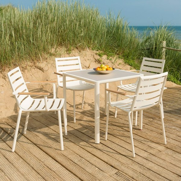 AL.Rose Fresco Bistro Set w/cushions - Shell
