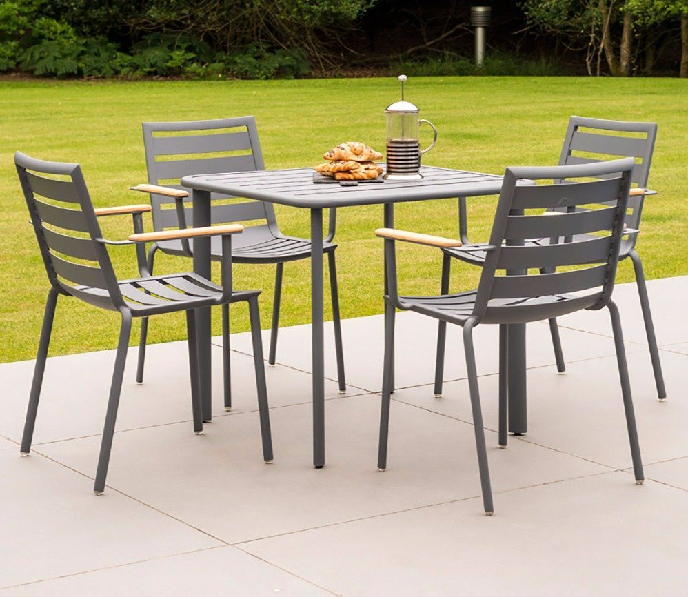 AL.Rose Fresco Bistro Set w/cushions - Flint
