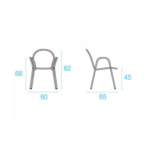 Emu RONDA Cadeira c/braços - Branco